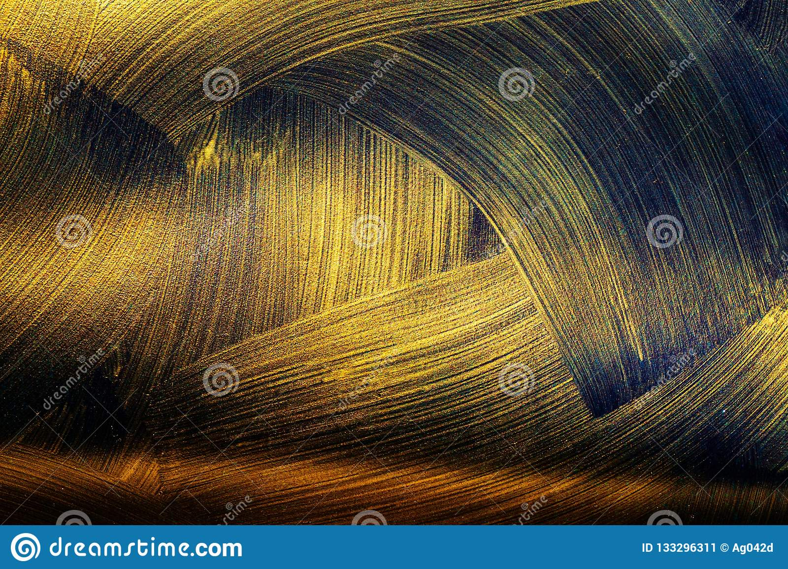 Texture Of Black Gold Abstract Seamless Texture Fractal
