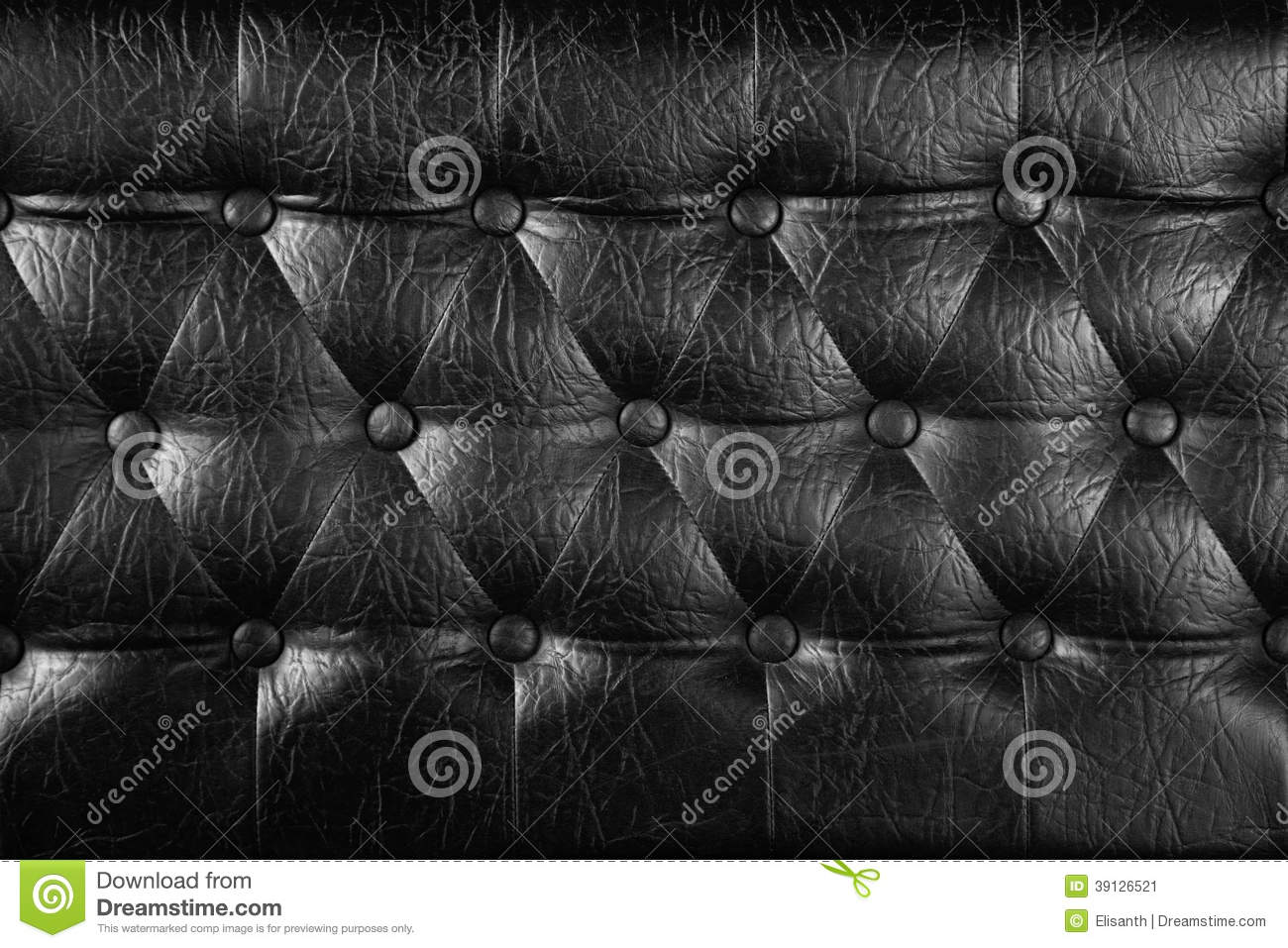 Black leather chair texture - Texture Of Black Royal Leather Stock Image