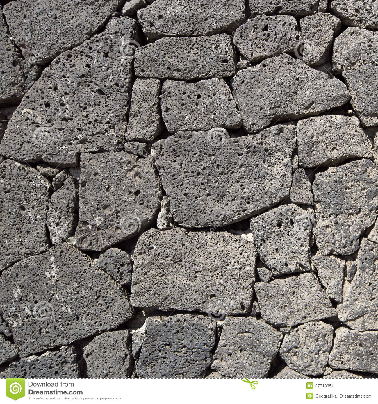 Texture Of The Black Volcanic Rock Wall Stock Image ...
