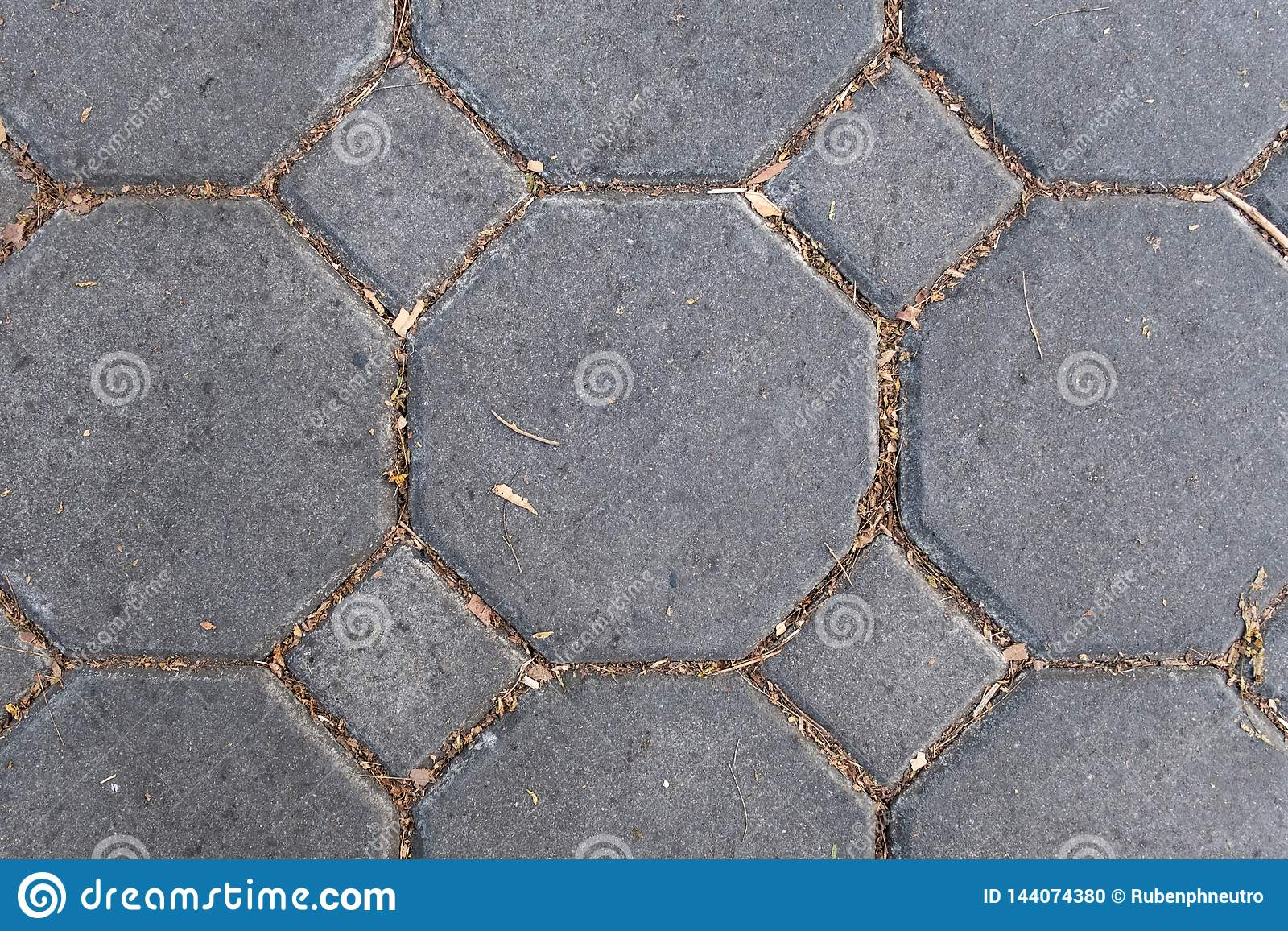 Texture of brick stone pattern floor close up