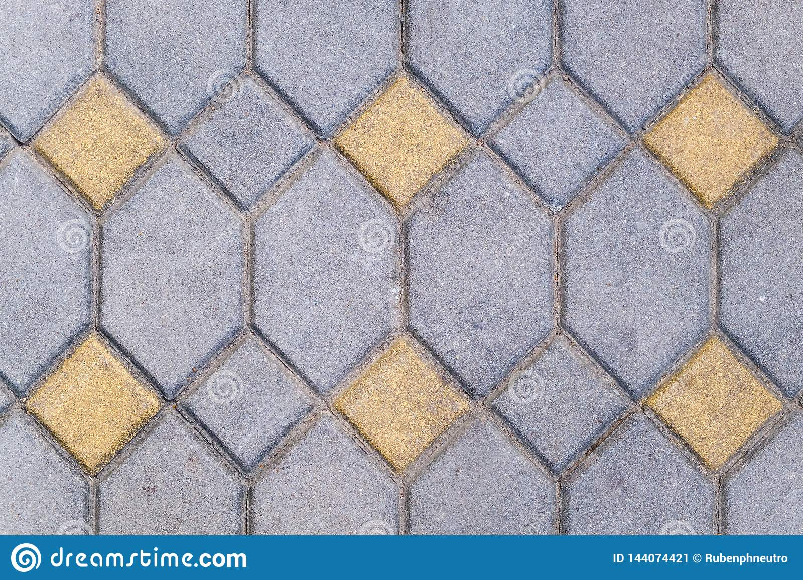 Texture of brick stone pattern floor close up