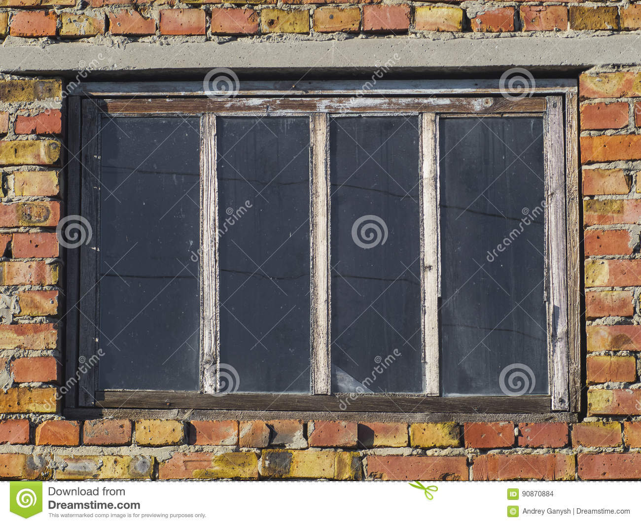 Texture Of Brick Wall And Windows Stock Photo - Image of ...