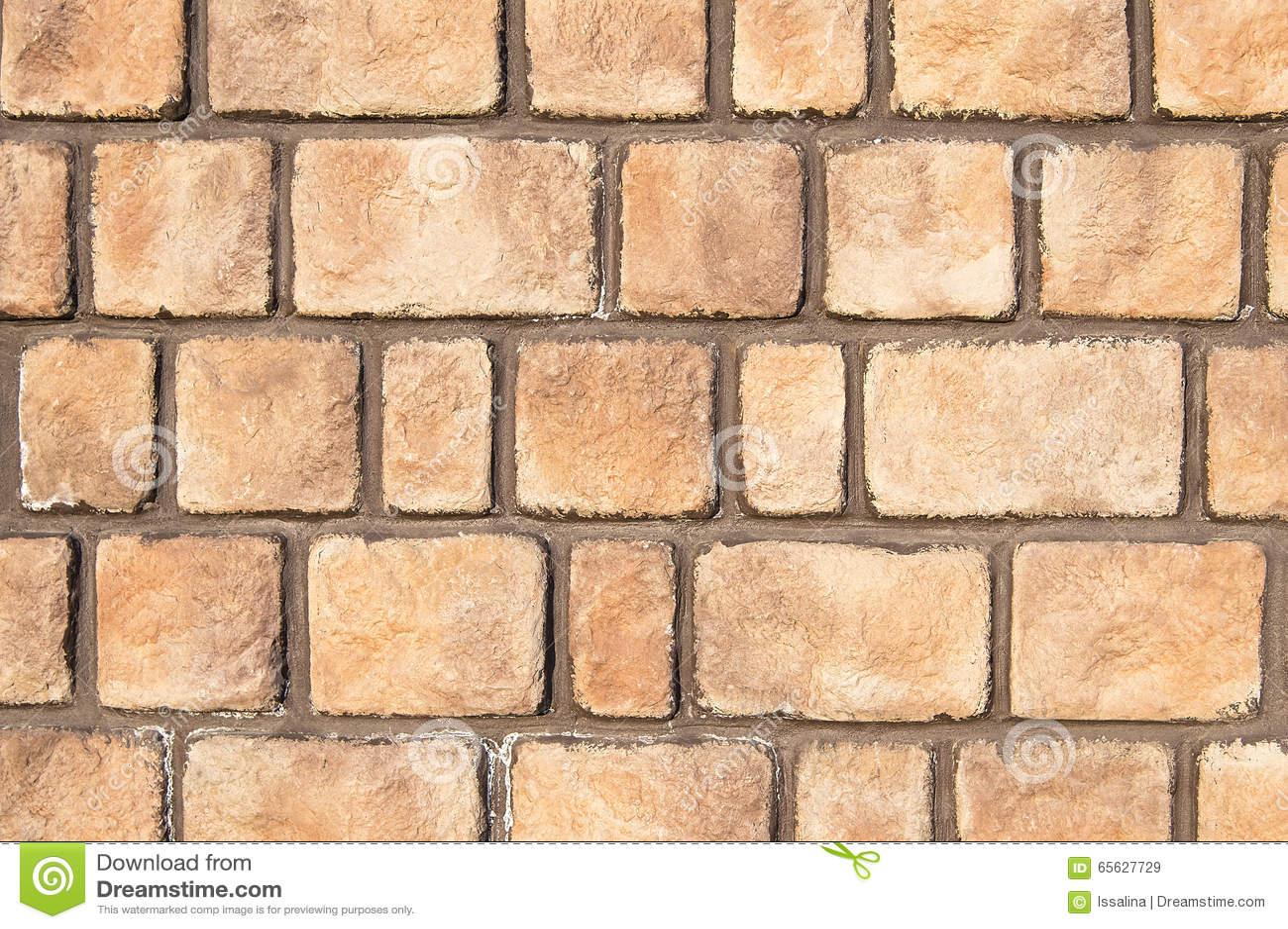 Texture brun clair de fond de mur en pierre