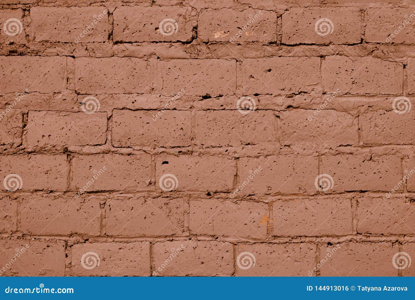 Texture brun clair de mur de briques Vieux fond rouge de mur de briques Fond orange-clair de mur Mod?le de couleurs d argile de b