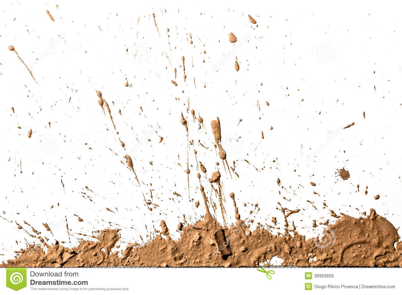 Texture Clay Moving In White Background  Royalty Free Stock Photo