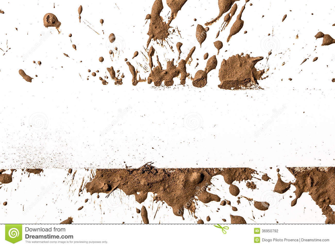 Texture clay moving in white background.