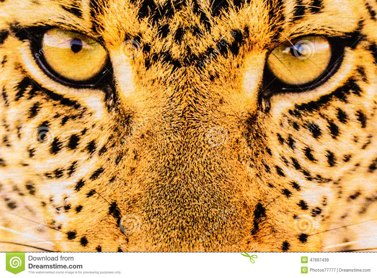 Texture Of Close Up Print Fabric Stripes Leopard Stock
