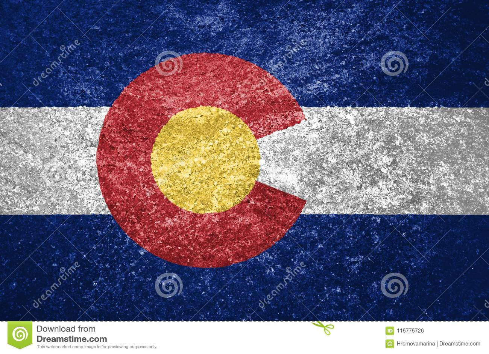 Texture of Colorado flag