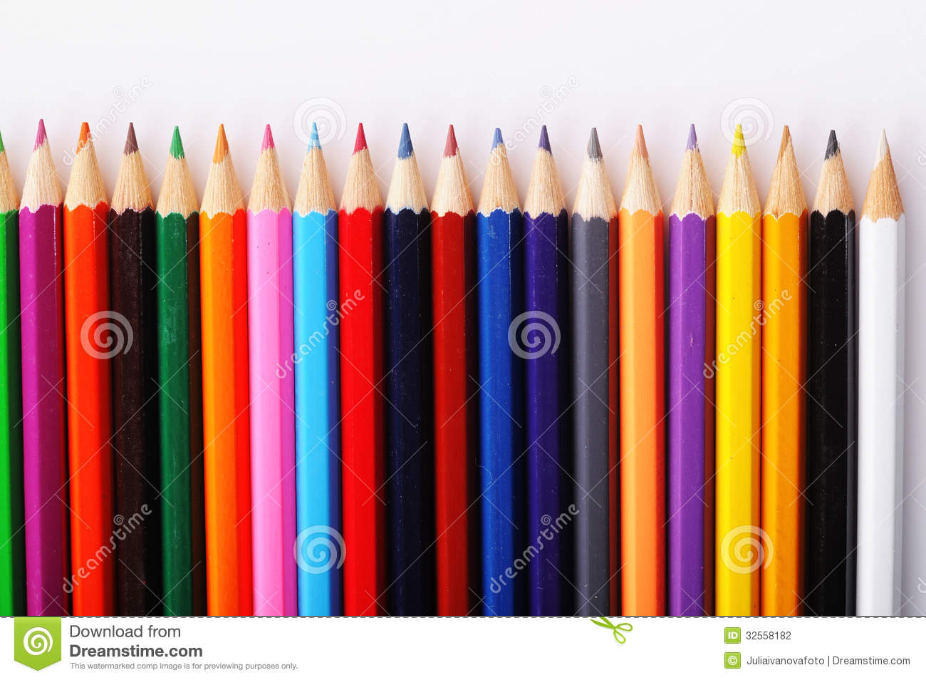 Texture Of Colored Pencils On White Background Stock Photo ...