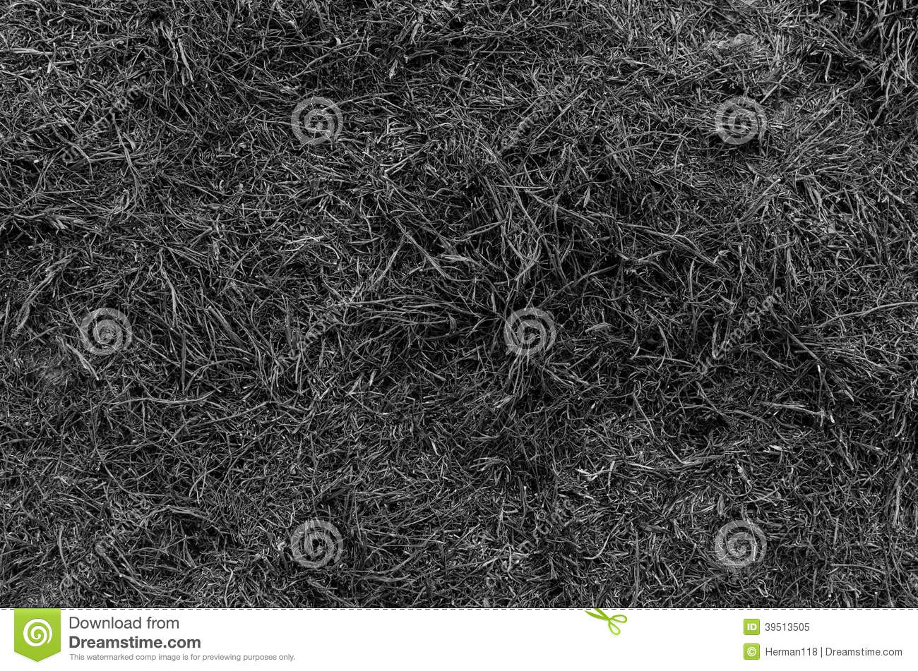 Texture after combustion hay