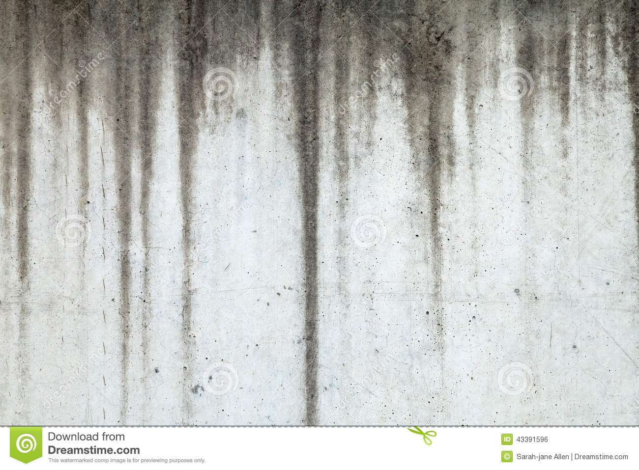Texture of concrete wall with water marks running down for Removing dirt stains from concrete