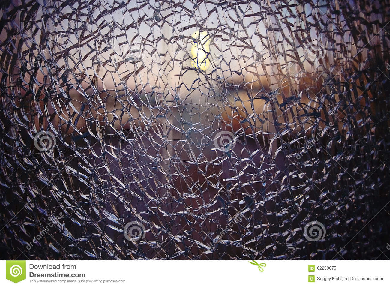 Texture cracked fractured glass