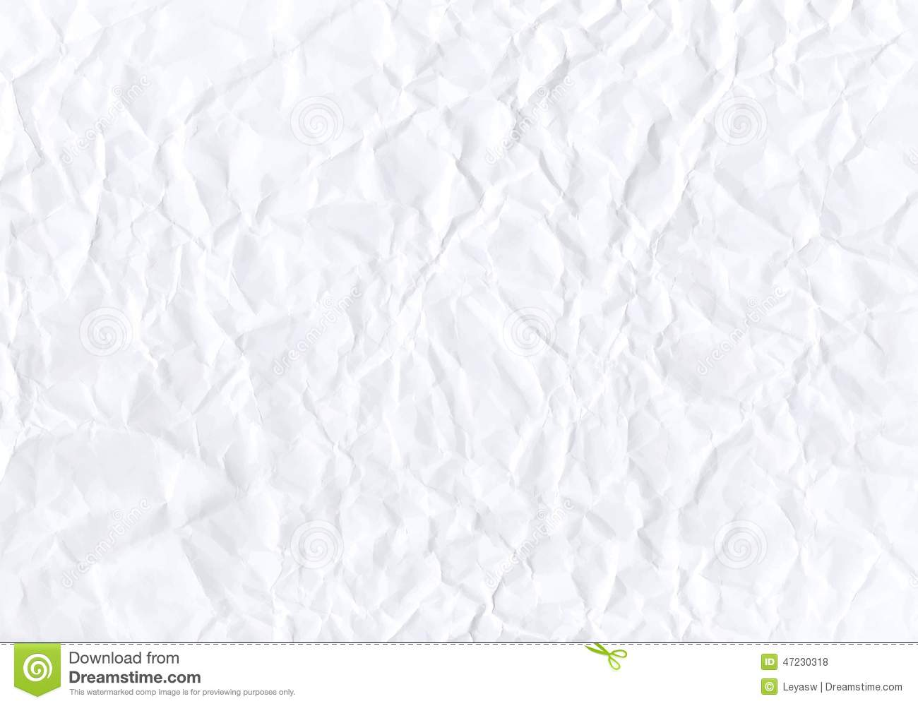 Texture Of Crumpled Horizontal White Paper. Vector Stock ...