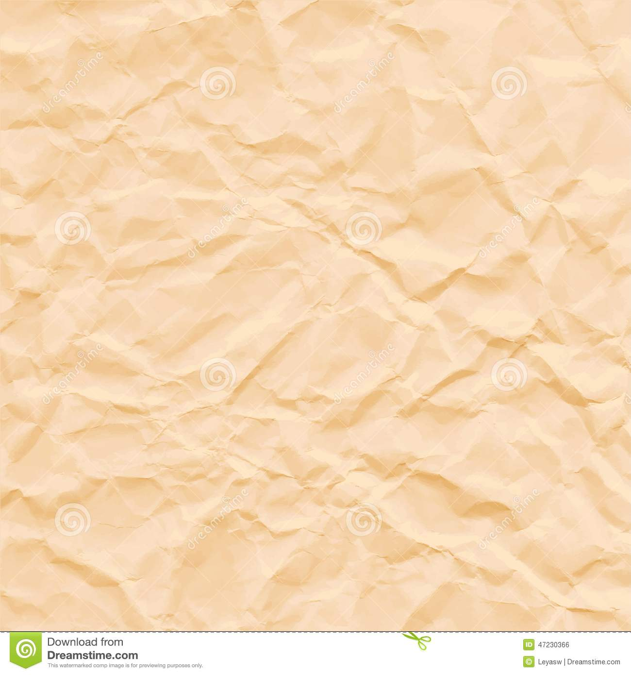 White Crumpled Paper Texture. Vector Illustration. Cartoon ...