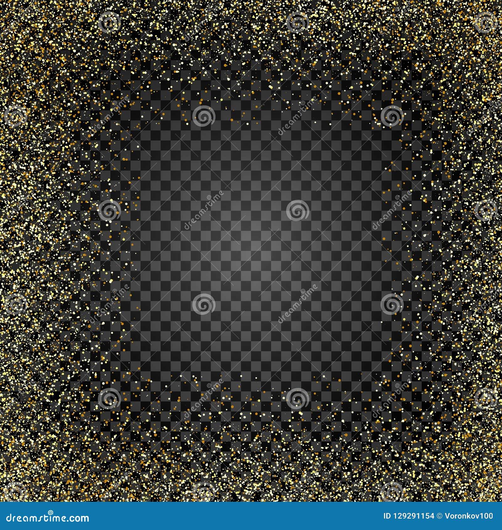 Texture d or de scintillement sur le fond d isolement Pluie d or Une explosion des confettis d or Élément de conception Illustrat