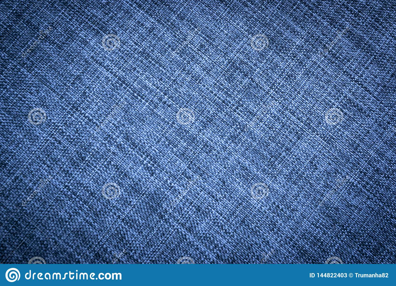 Texture of Dark Blue Canvas Fabric