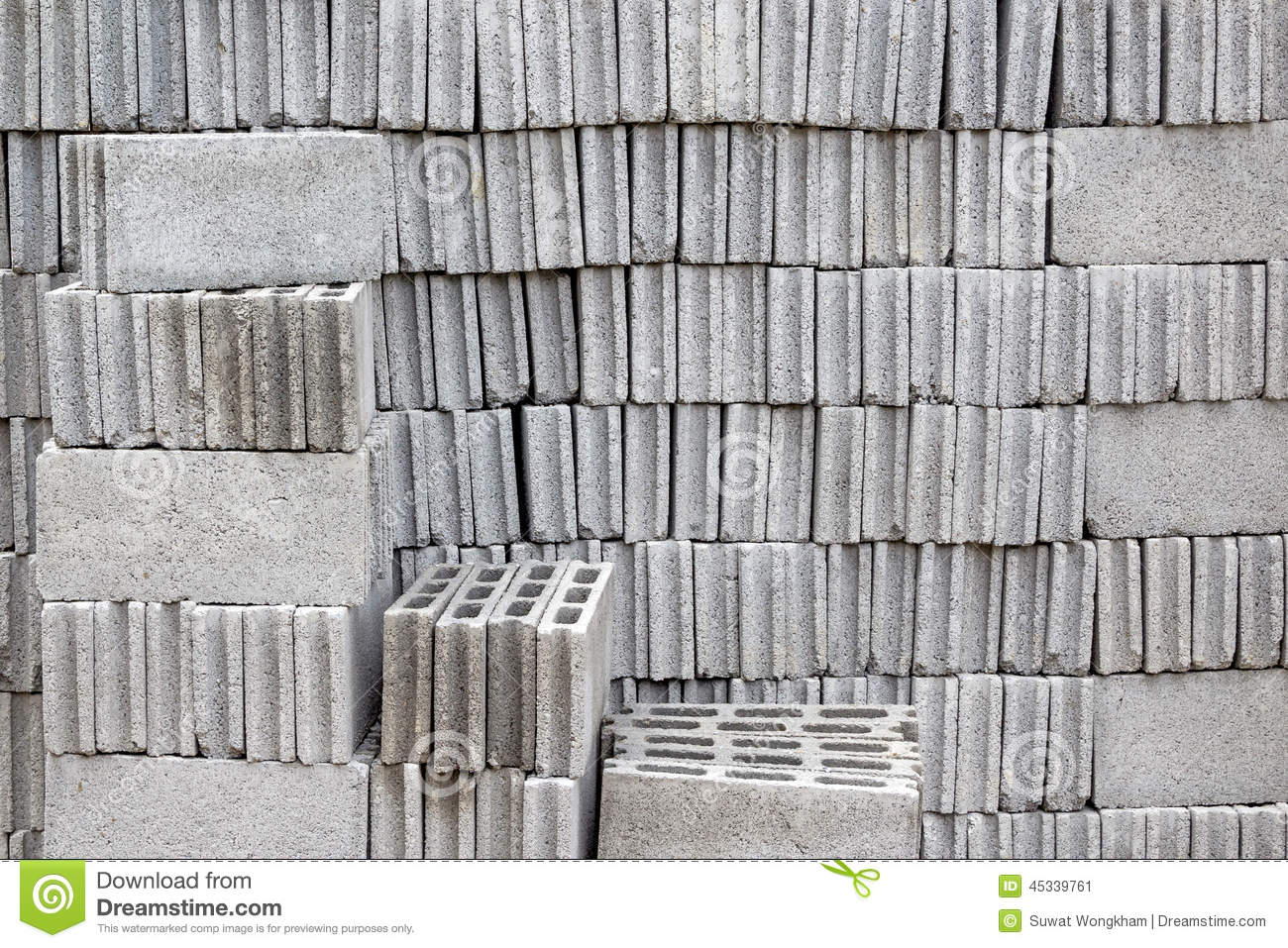 Texture de bloc de ciment photo stock image 45339761 for Bloc ciment
