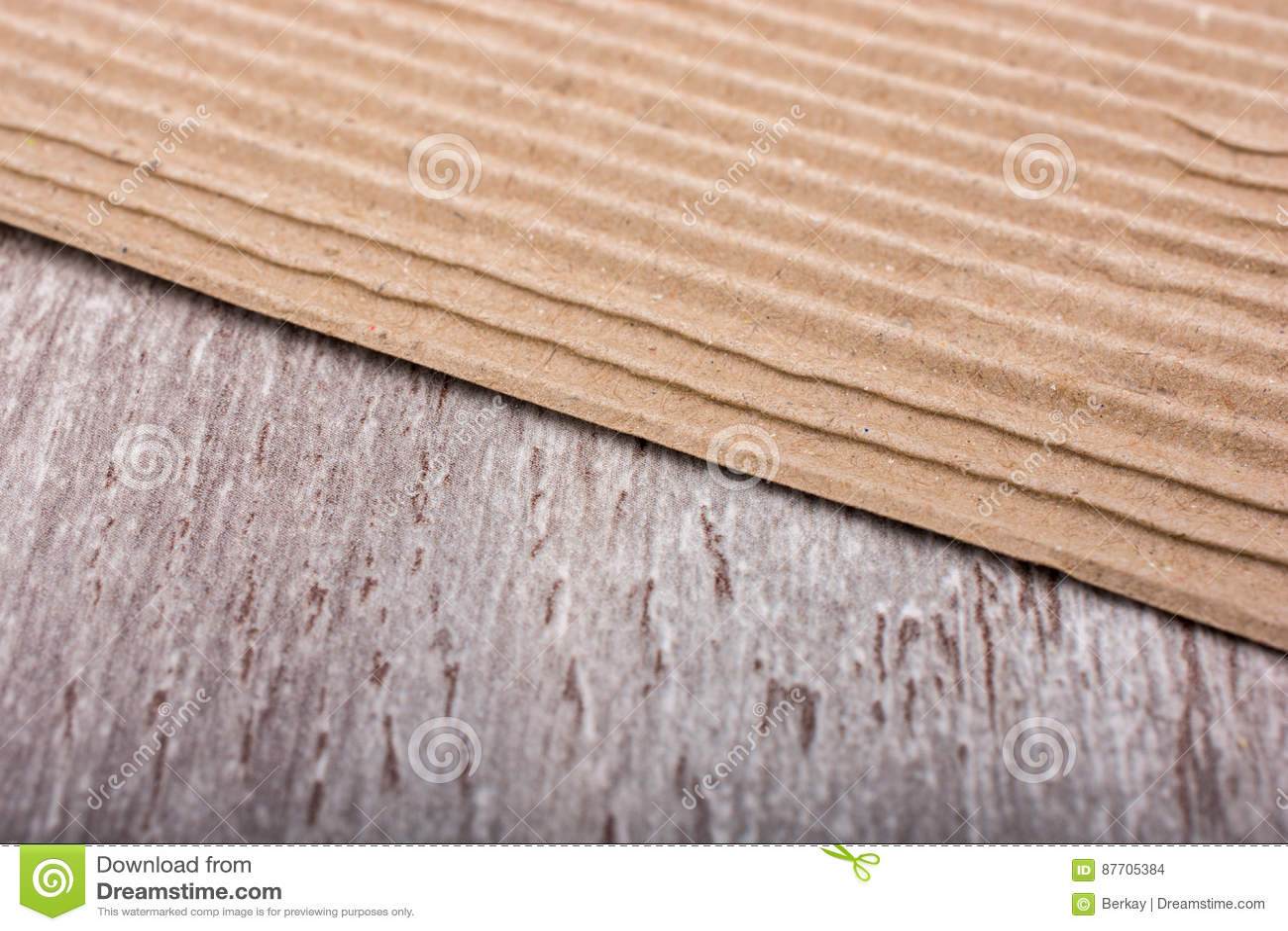 Texture de carton ondulé en tant que fond industriel