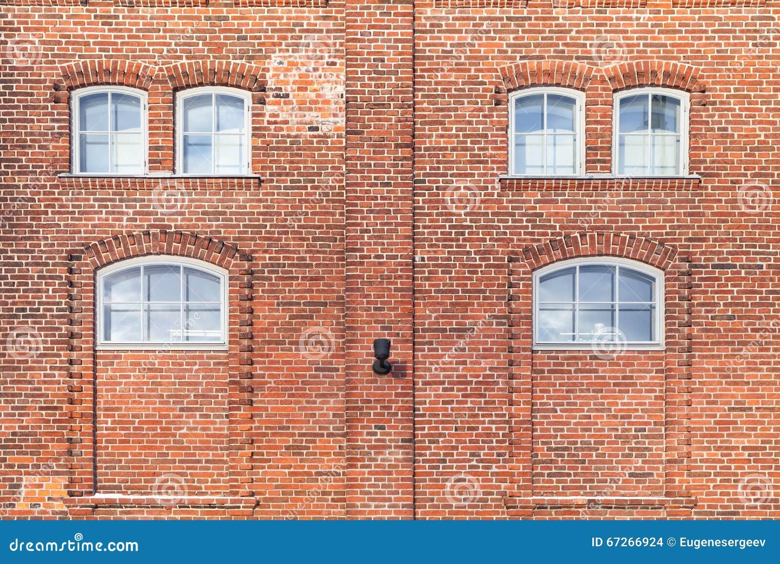 Texture de fond de fa ade de maison de brique rouge photo for Brique facade maison