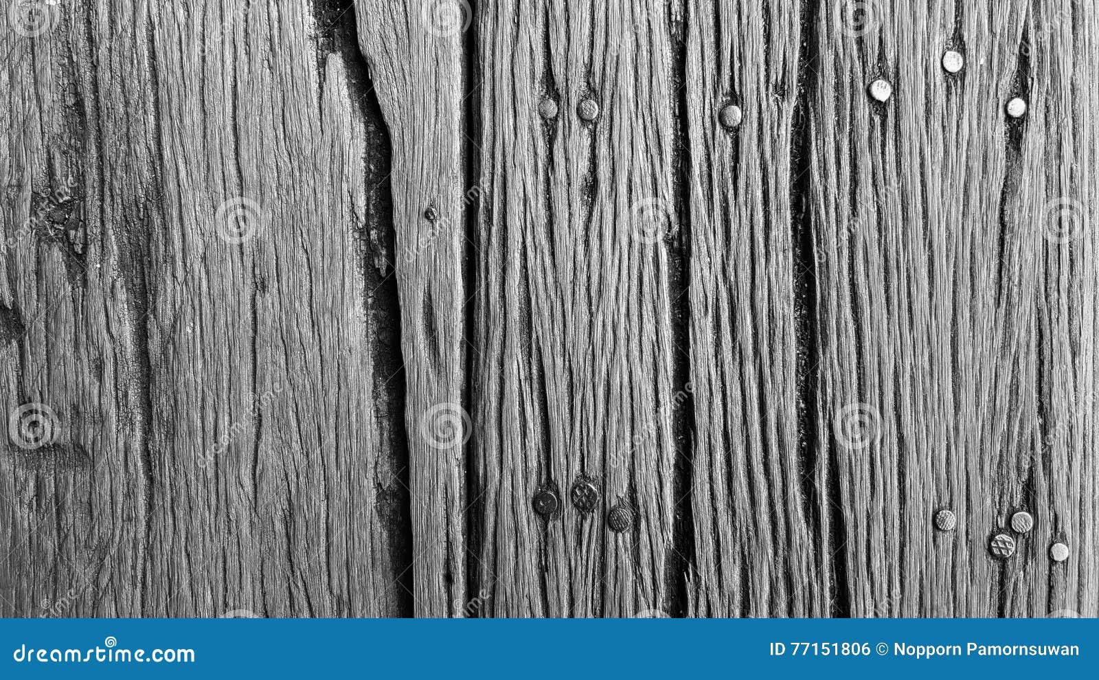 Texture de fond de vieille texture en bois avec des clous