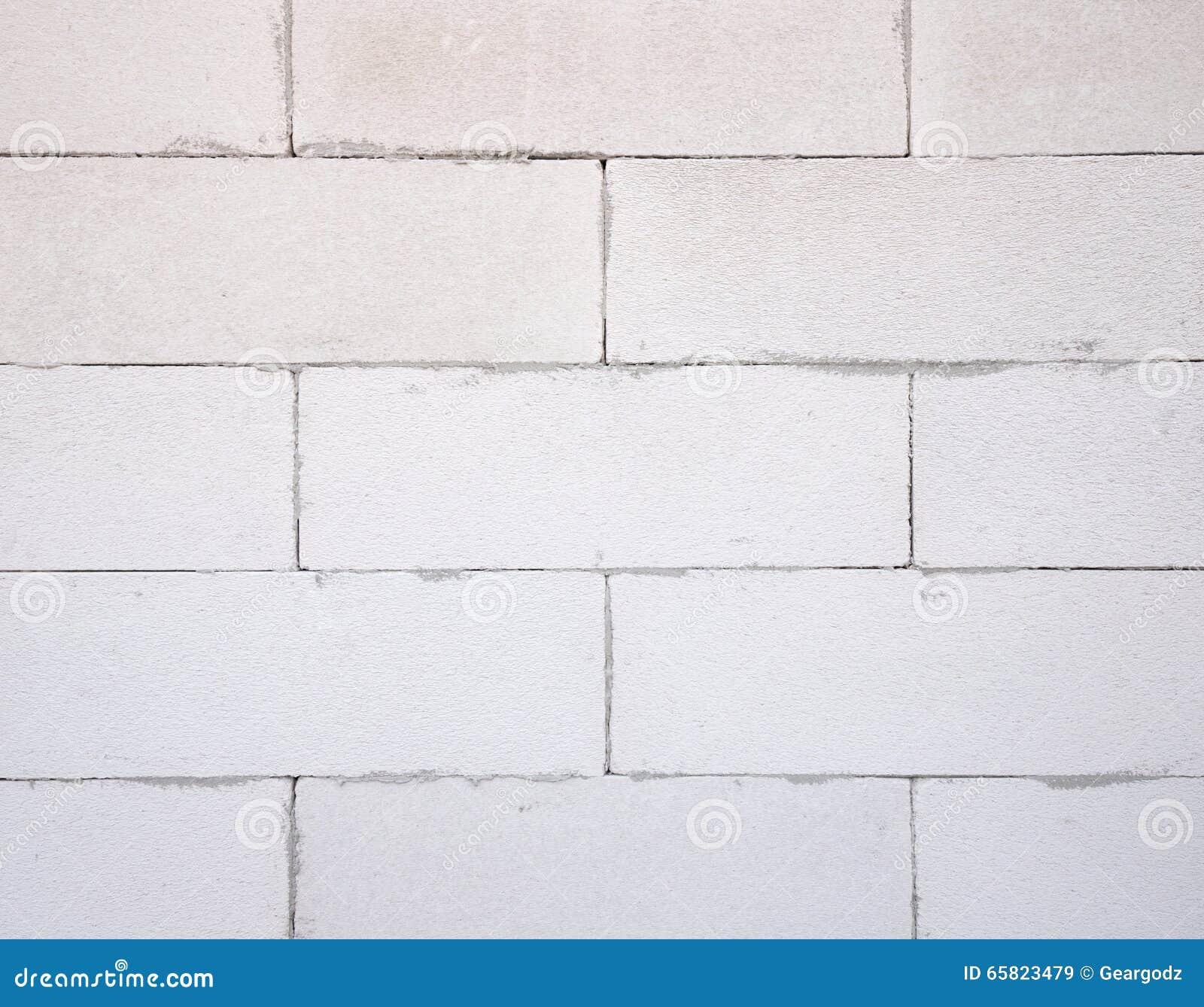 texture de fond du bloc de b ton l ger blanc c de mousse photo stock image 65823479. Black Bedroom Furniture Sets. Home Design Ideas