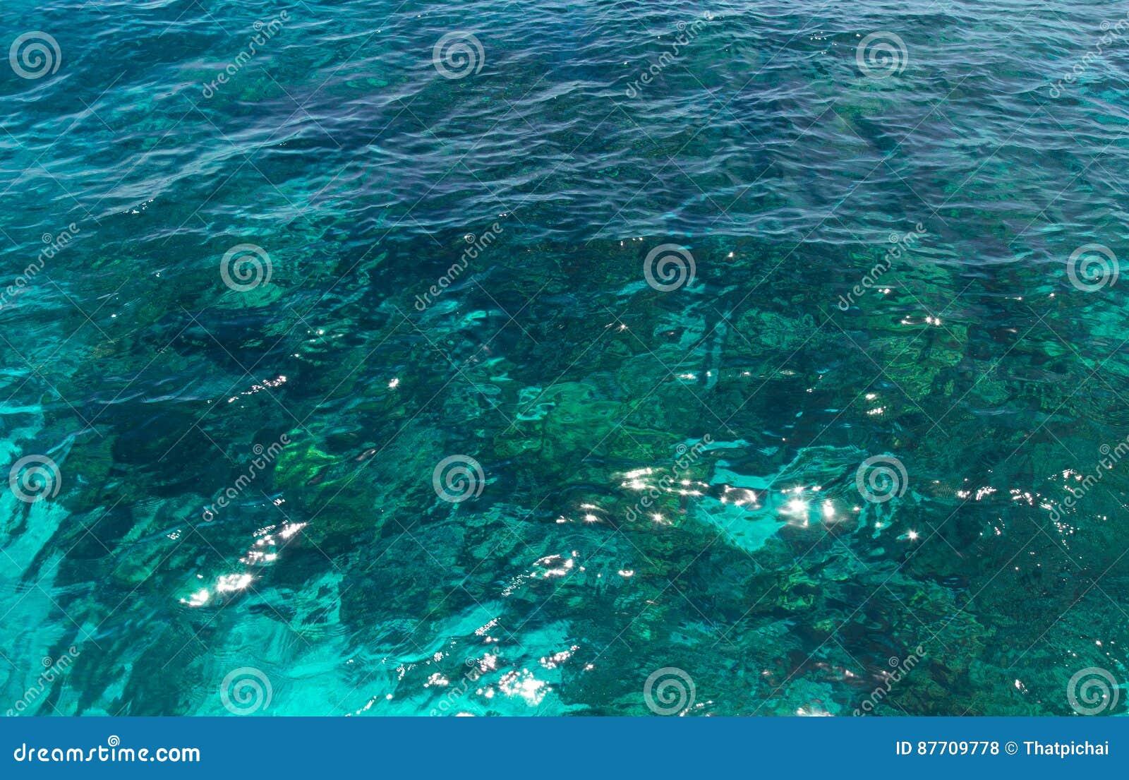 Texture de l eau d océan, mer de bleu d espace libre
