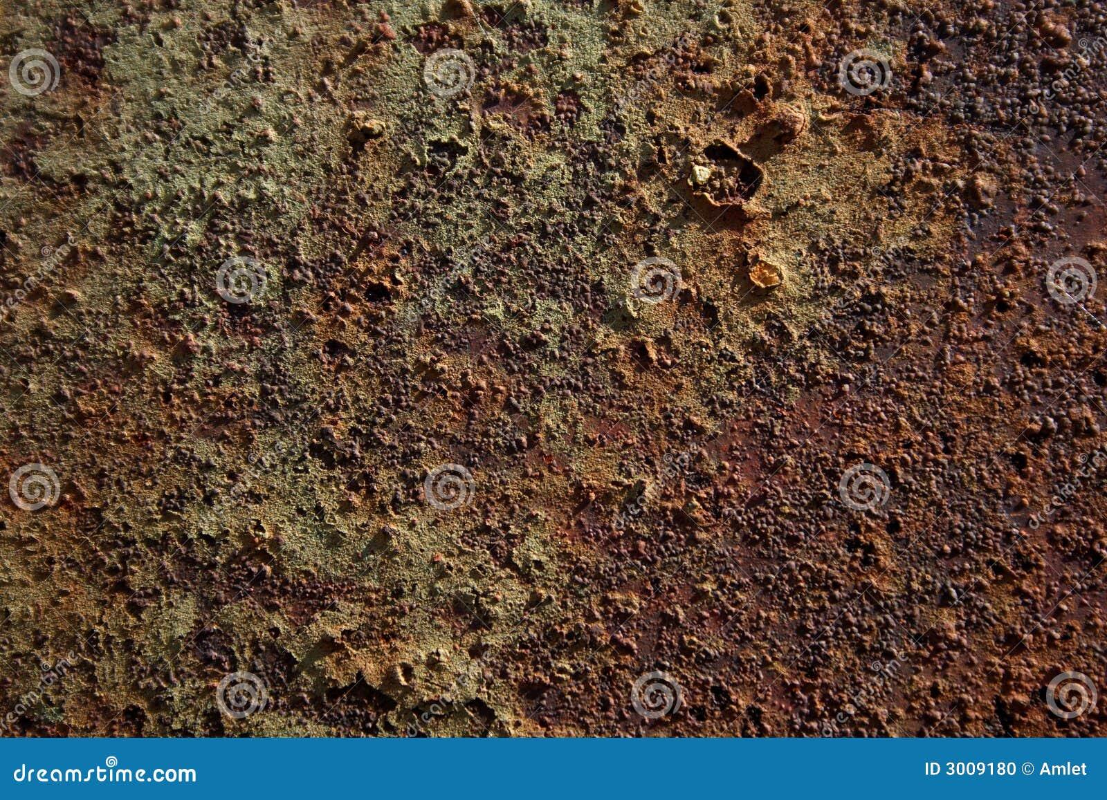 Texture de la corrosion