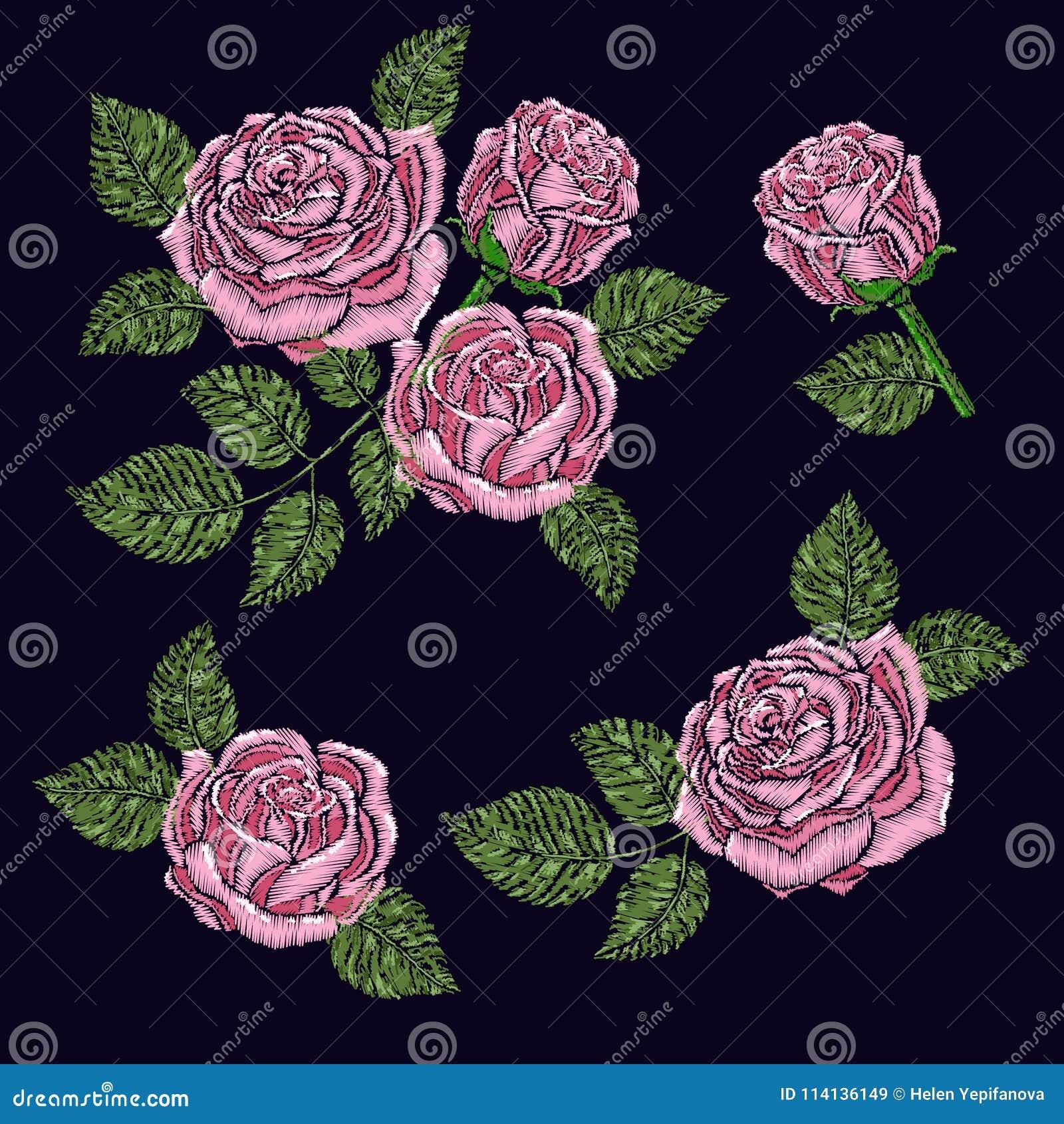 Texture De Modele De Broderie Papier Peint Fond Avec De Belles