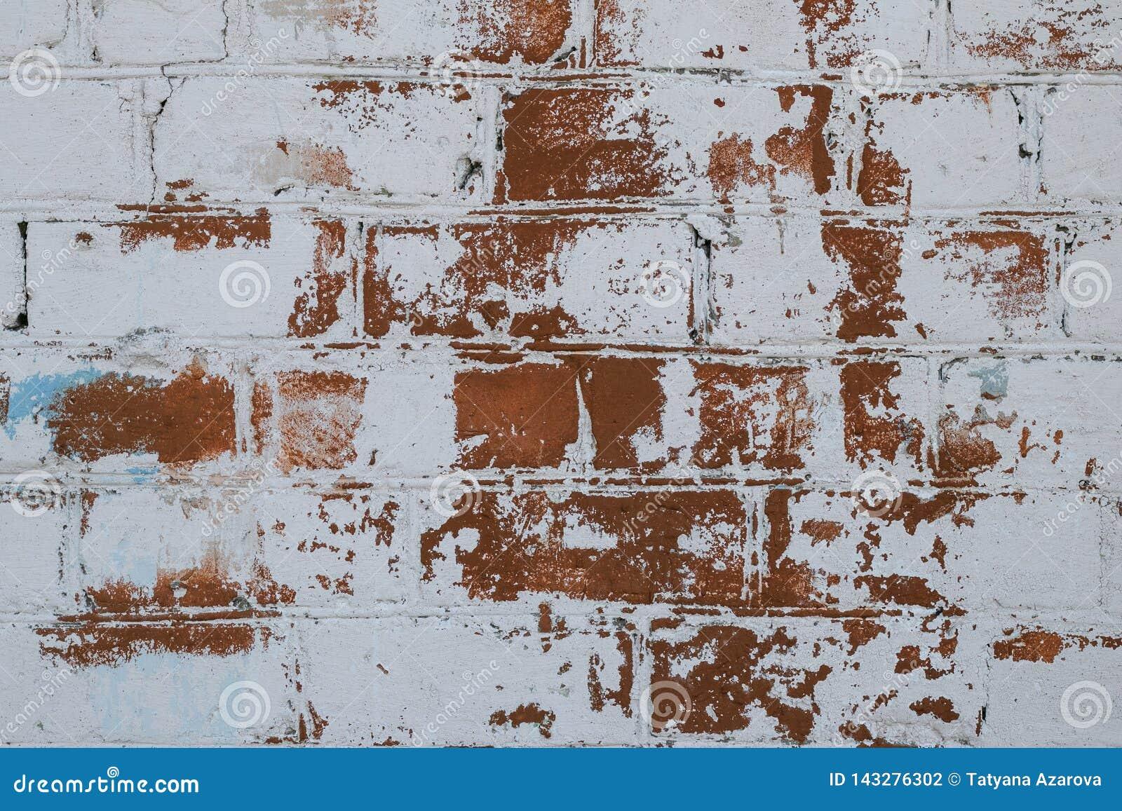 Peindre Un Mur De Brique texture de mur de briques en vieux plan rapproché blanc de