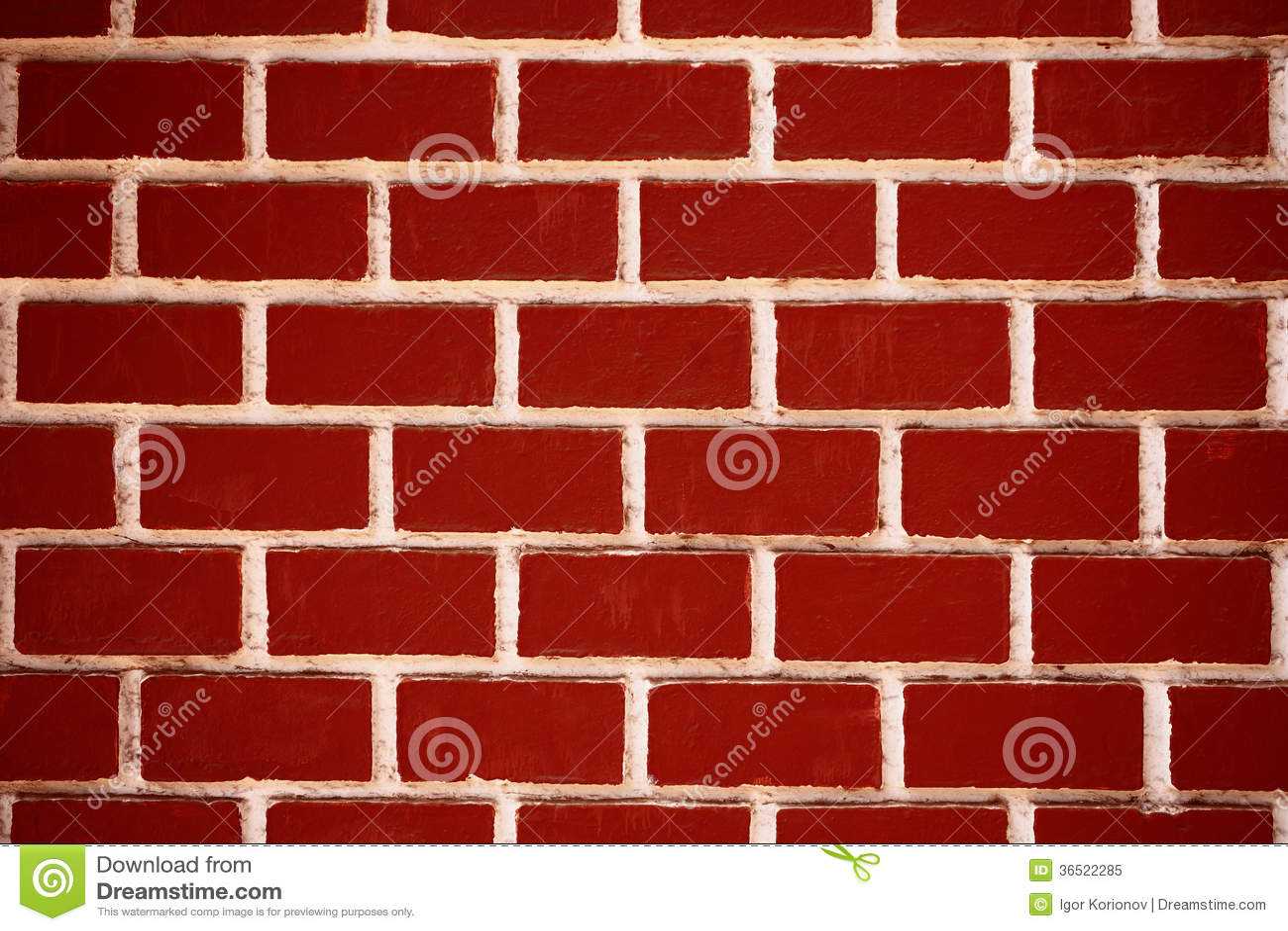 Texture de mur de briques rouge