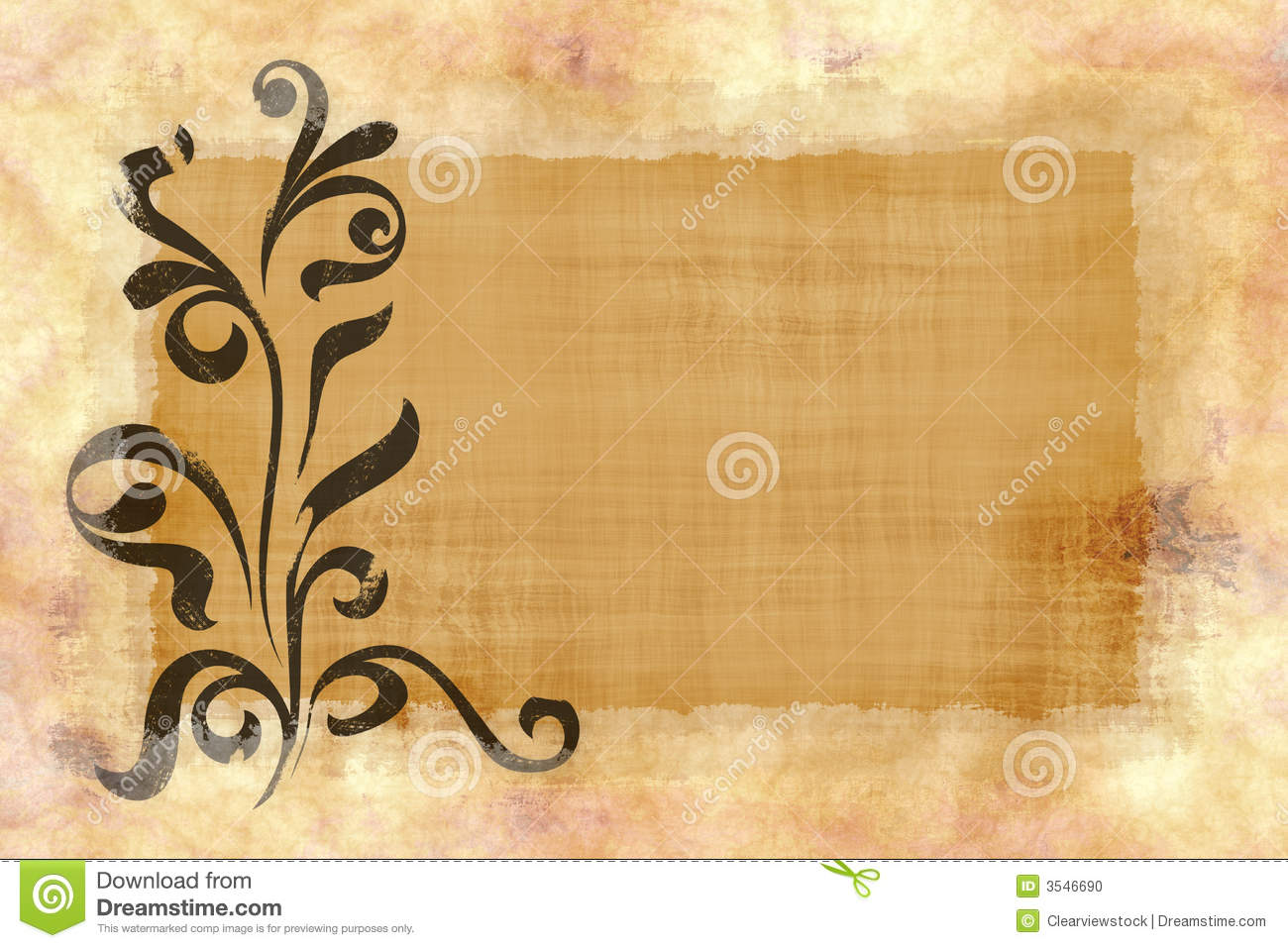 Brown Scroll For Cover Letter