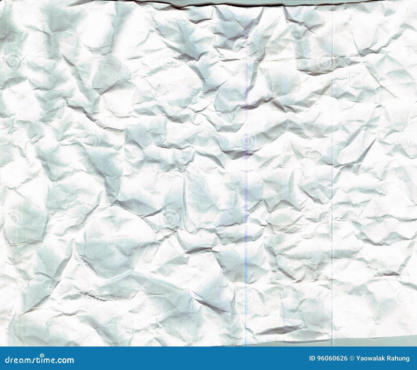 Texture de papier froissée