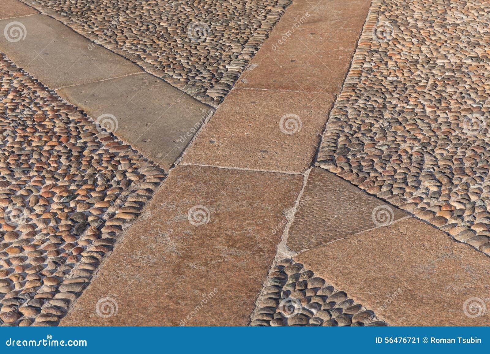Texture de pavage en pierre