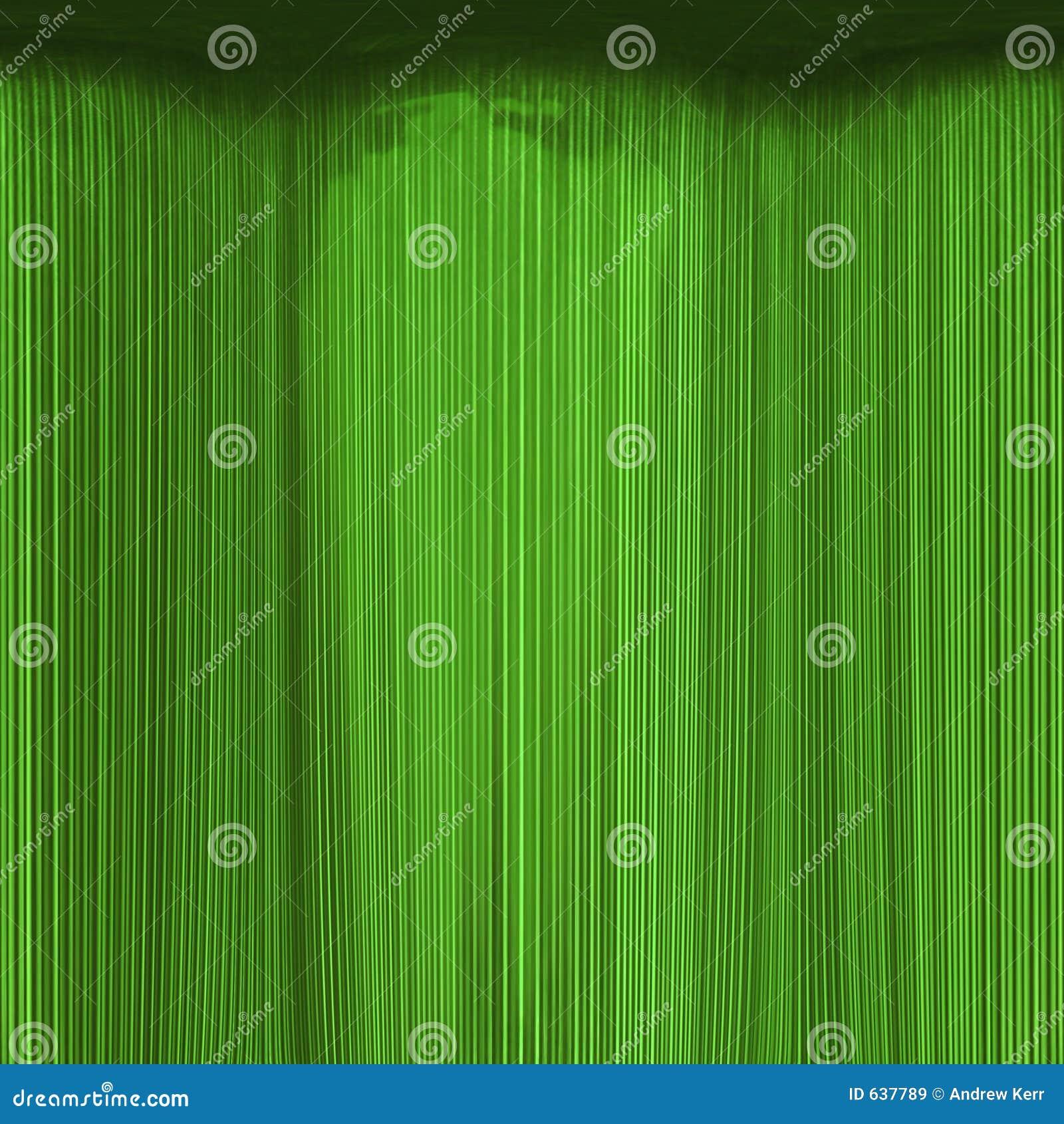 Texture de rideau en vert vert