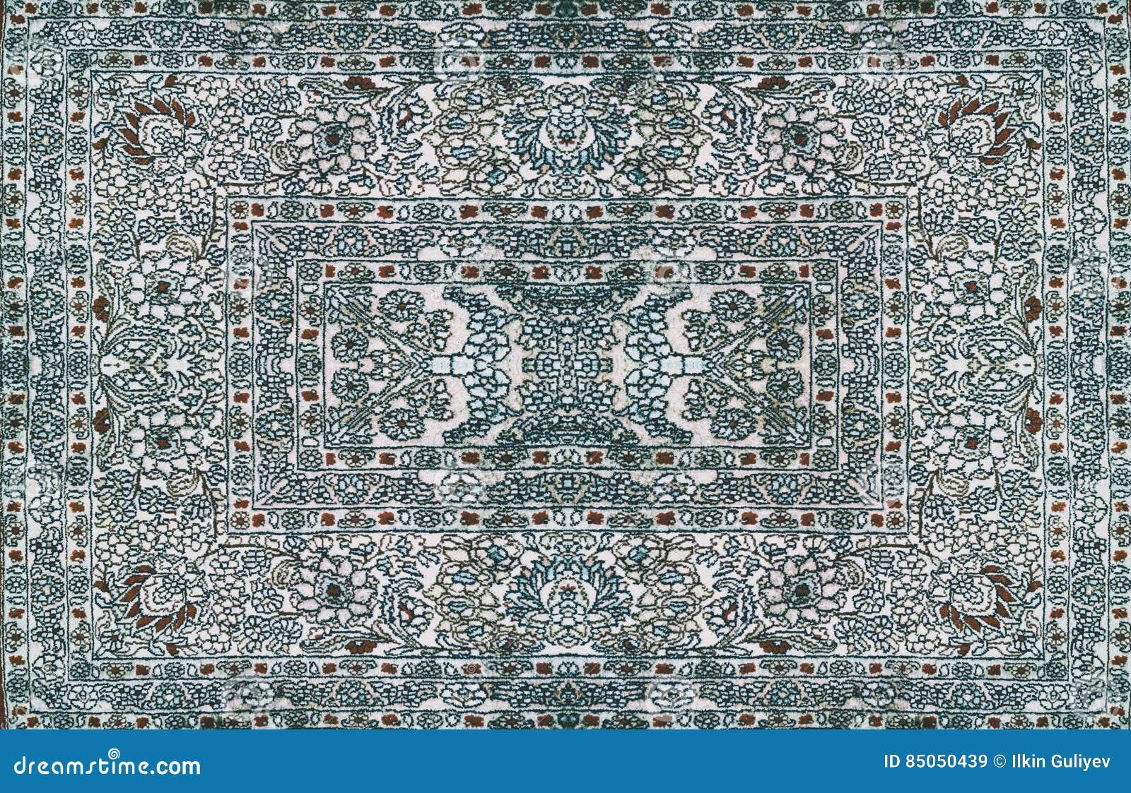Texture De Tapis De Perse Ornement Abstrait Modele Rond De Mandala