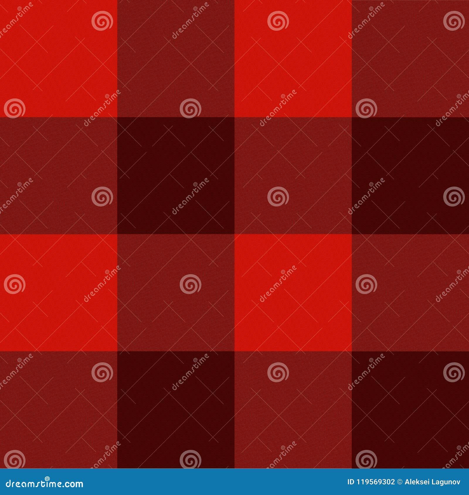 Texture de textile de vecteur, modèle sans couture, calibre à carreaux rouge de tissu