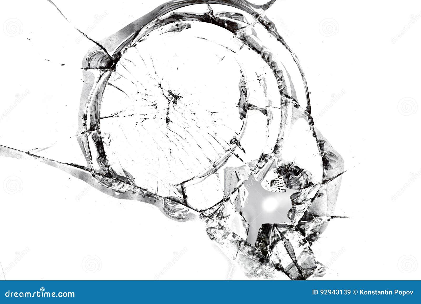 Texture de verre cassé