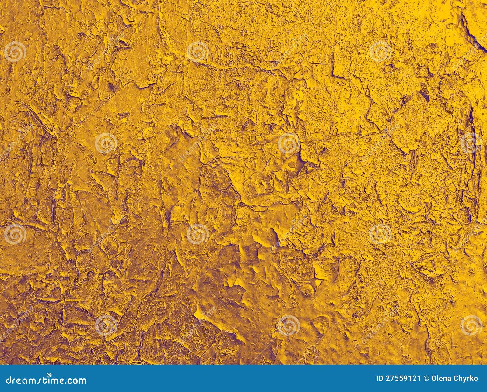 Texture de vieux mur avec une peinture d 39 or criqu e image - Peinture avec effet texture ...