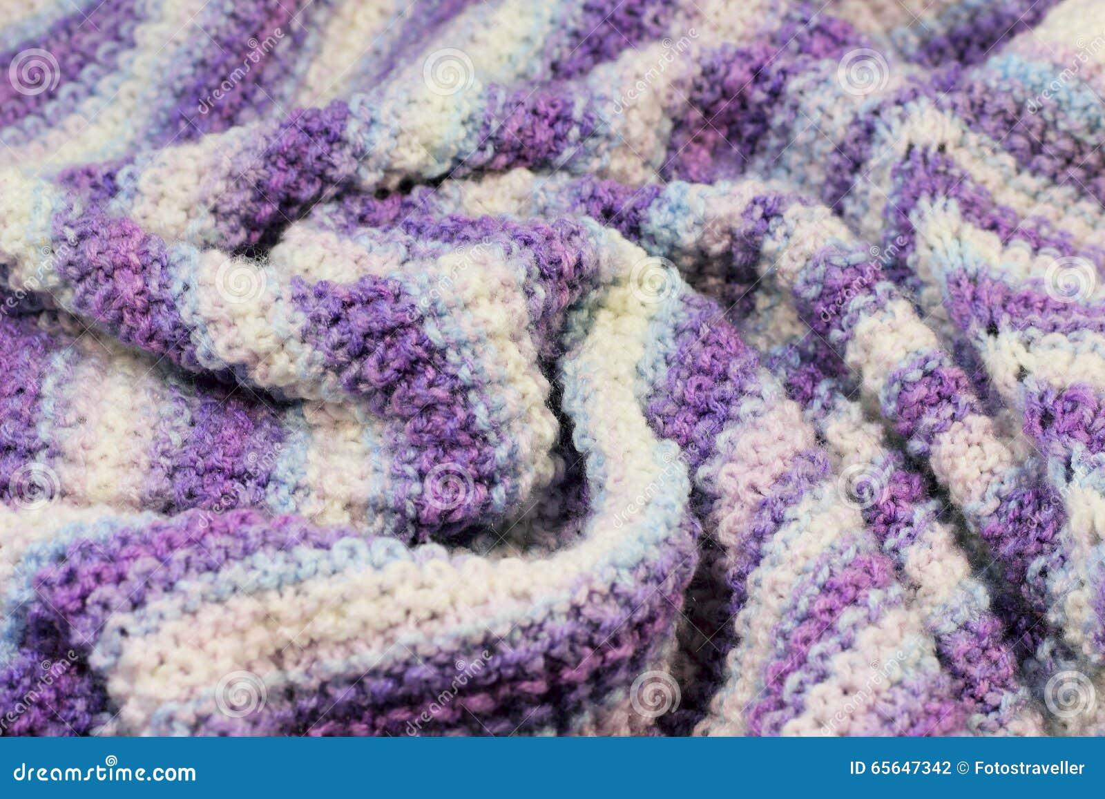 Texture des laines tricotées