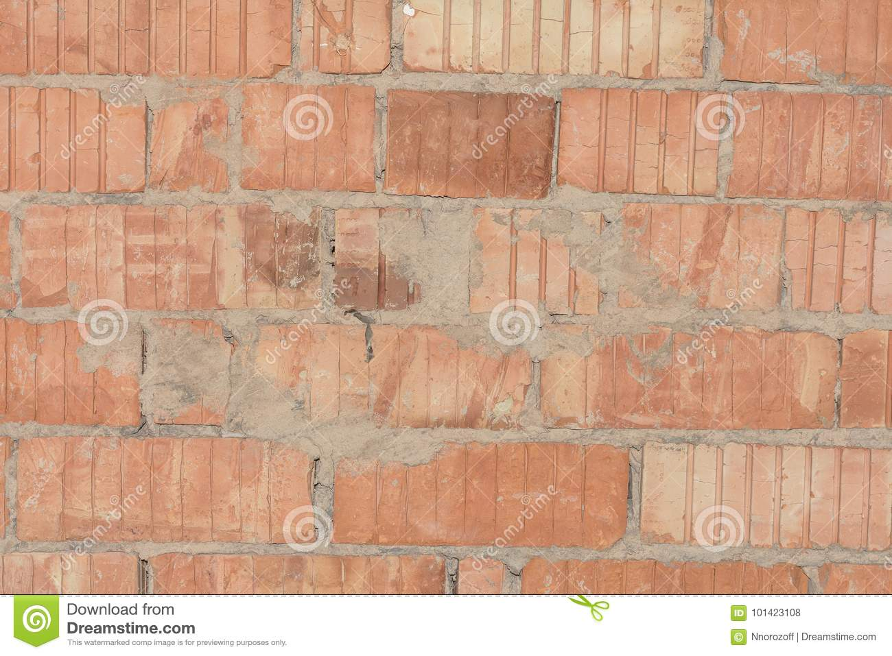 Texture of the destroyed brick wall stock photo image for Perforated brick wall