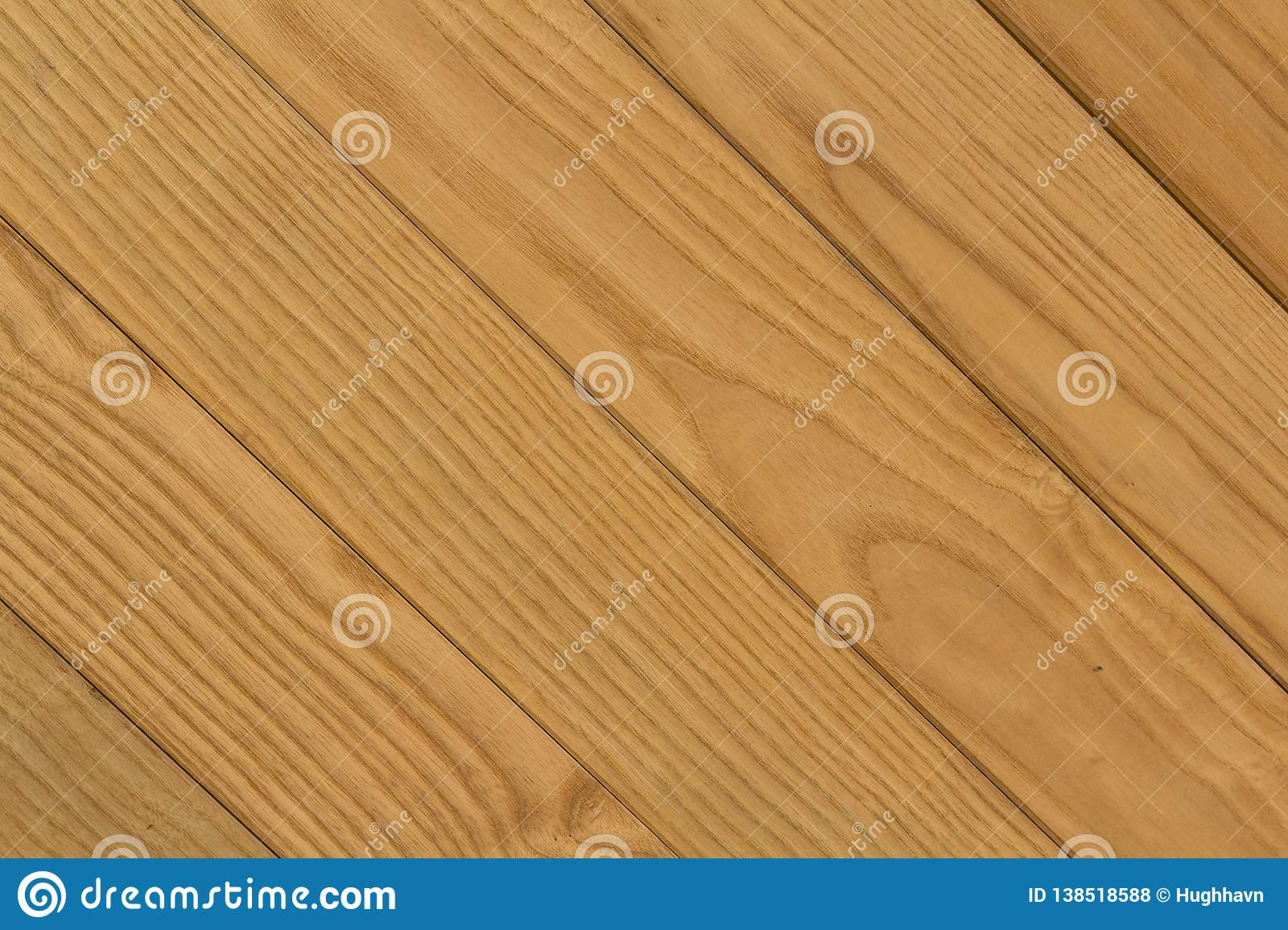 Texture of Diagonal Brown Wooden Bars for Background