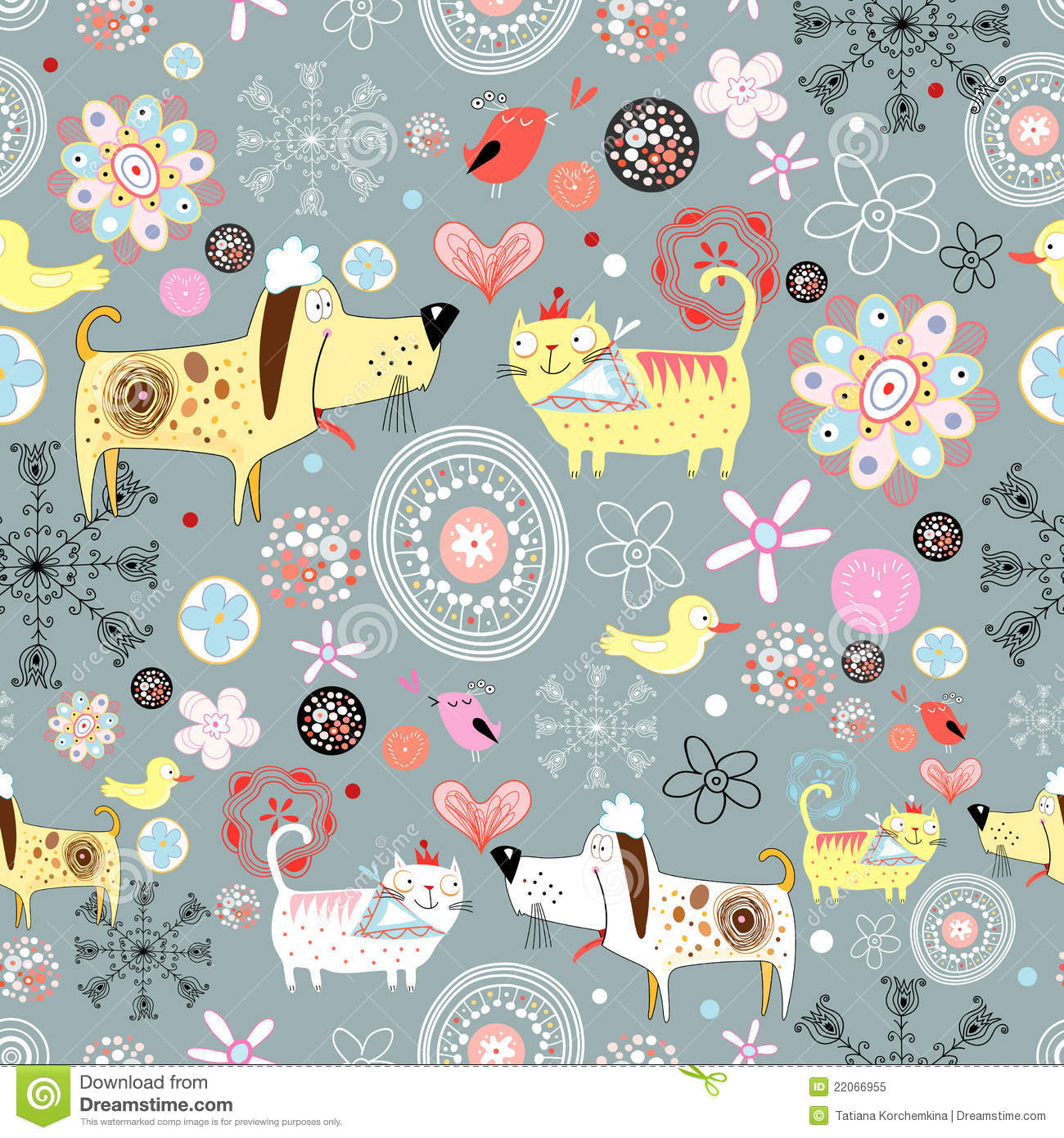 Texture of the dogs and cats