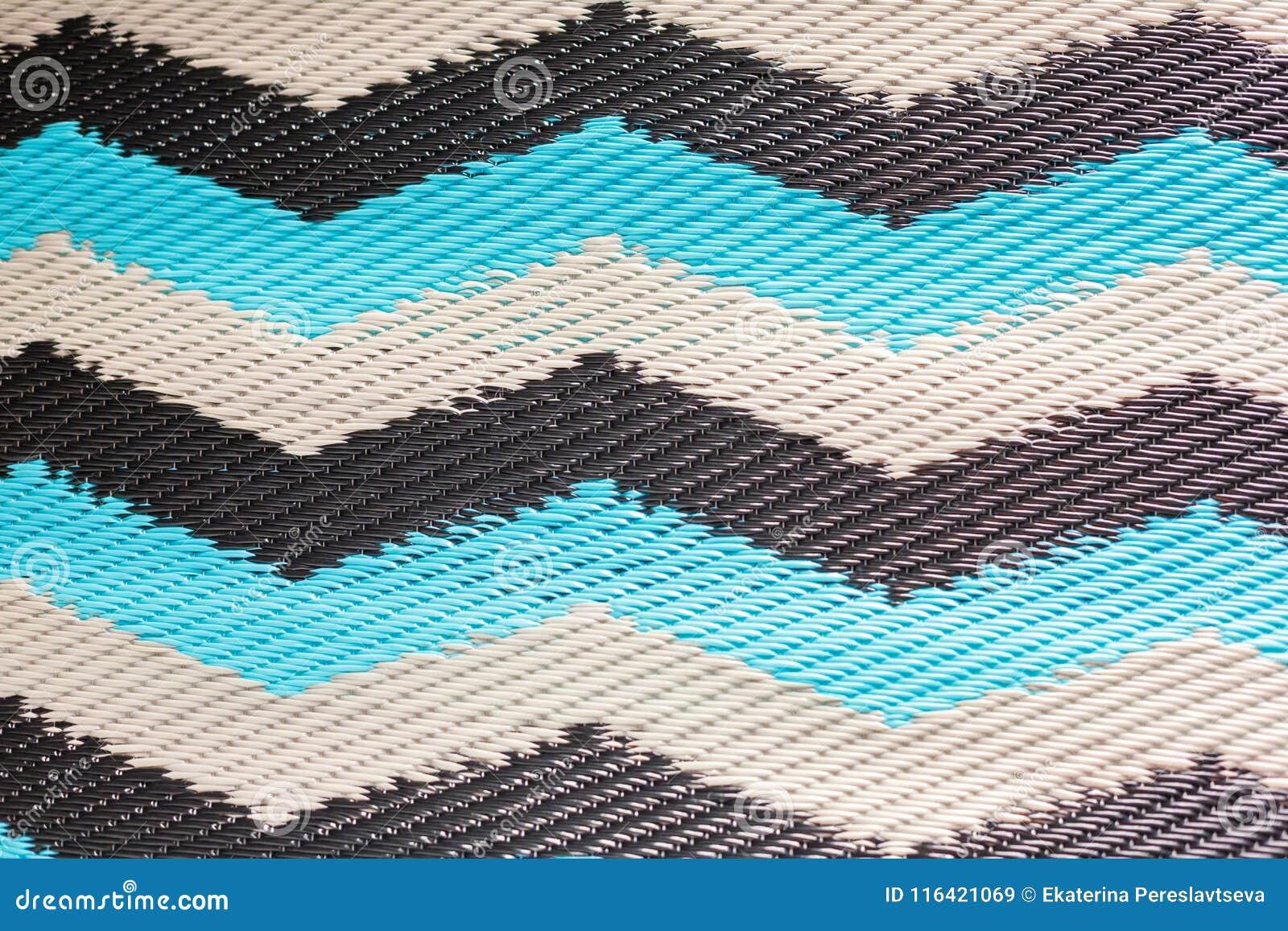 Texture Du Tapis Tisse Fait De Plastique Image Stock Image
