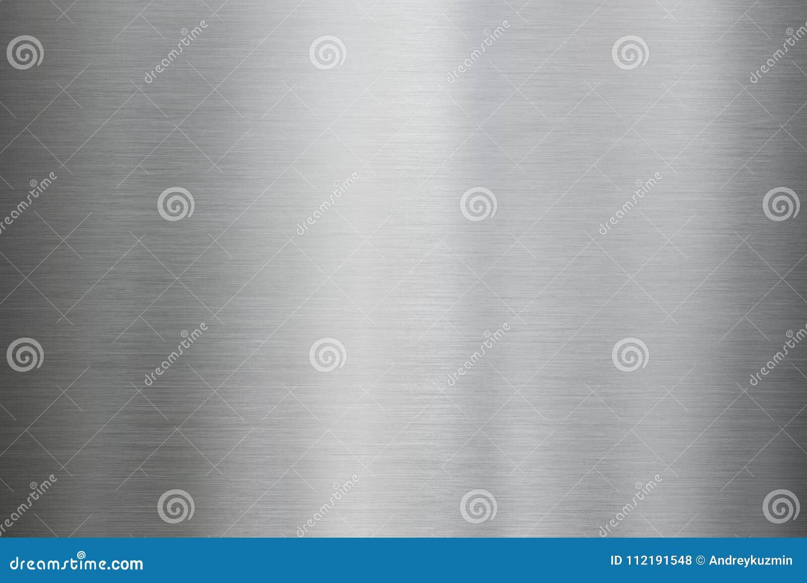 Texture en acier ou en aluminium balayée par métal