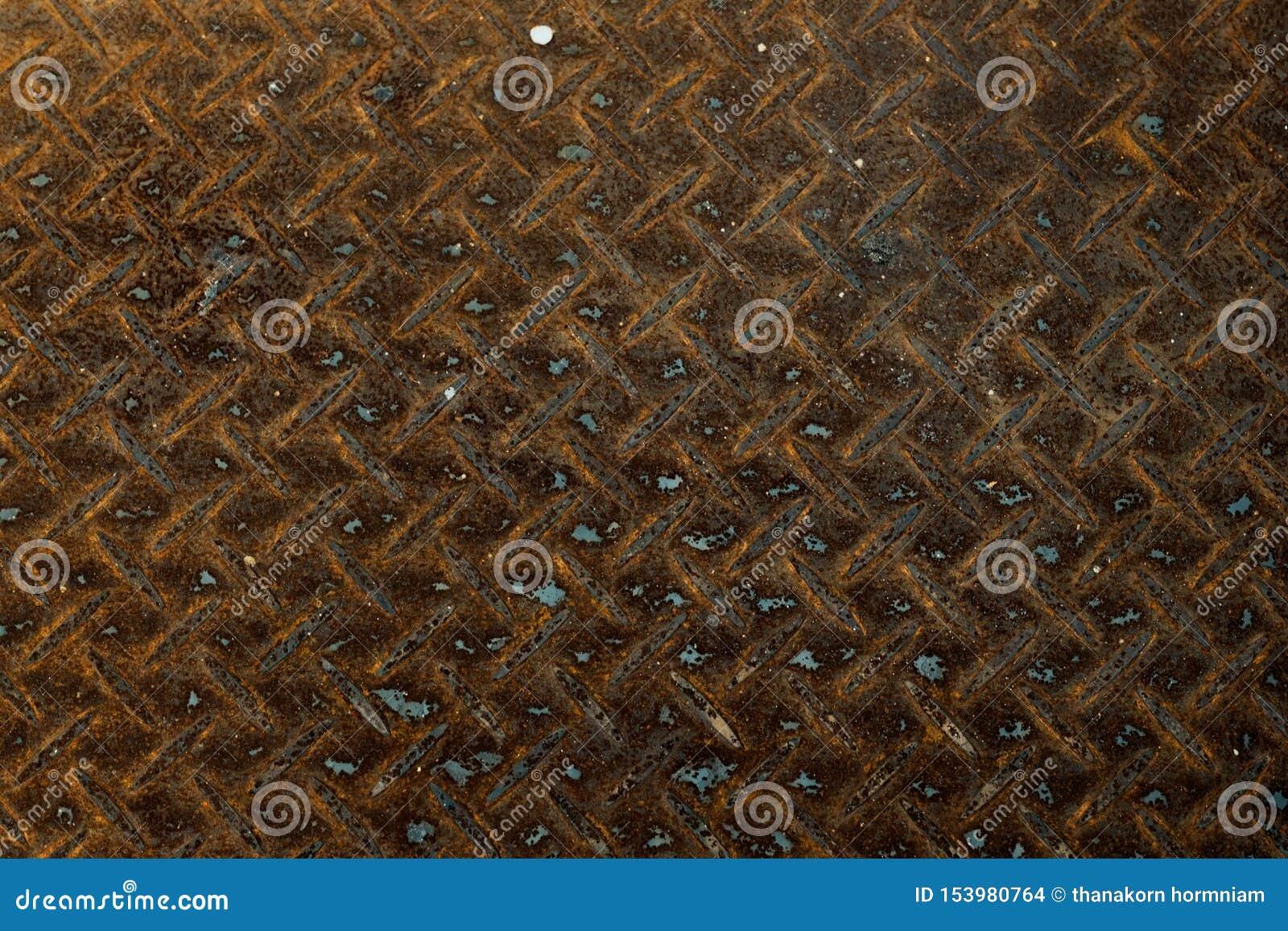 Texture en acier rouillée de fond de mur