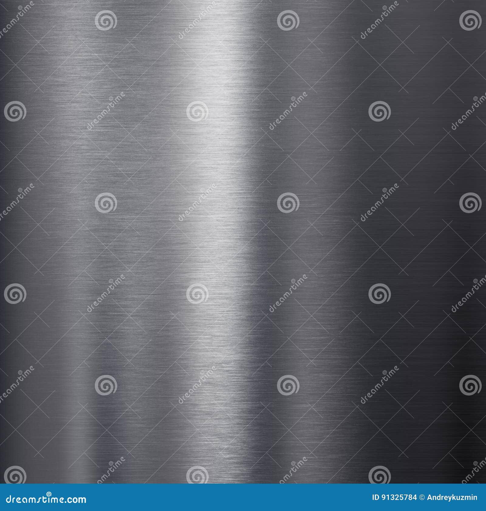 Texture en aluminium foncée balayée en métal
