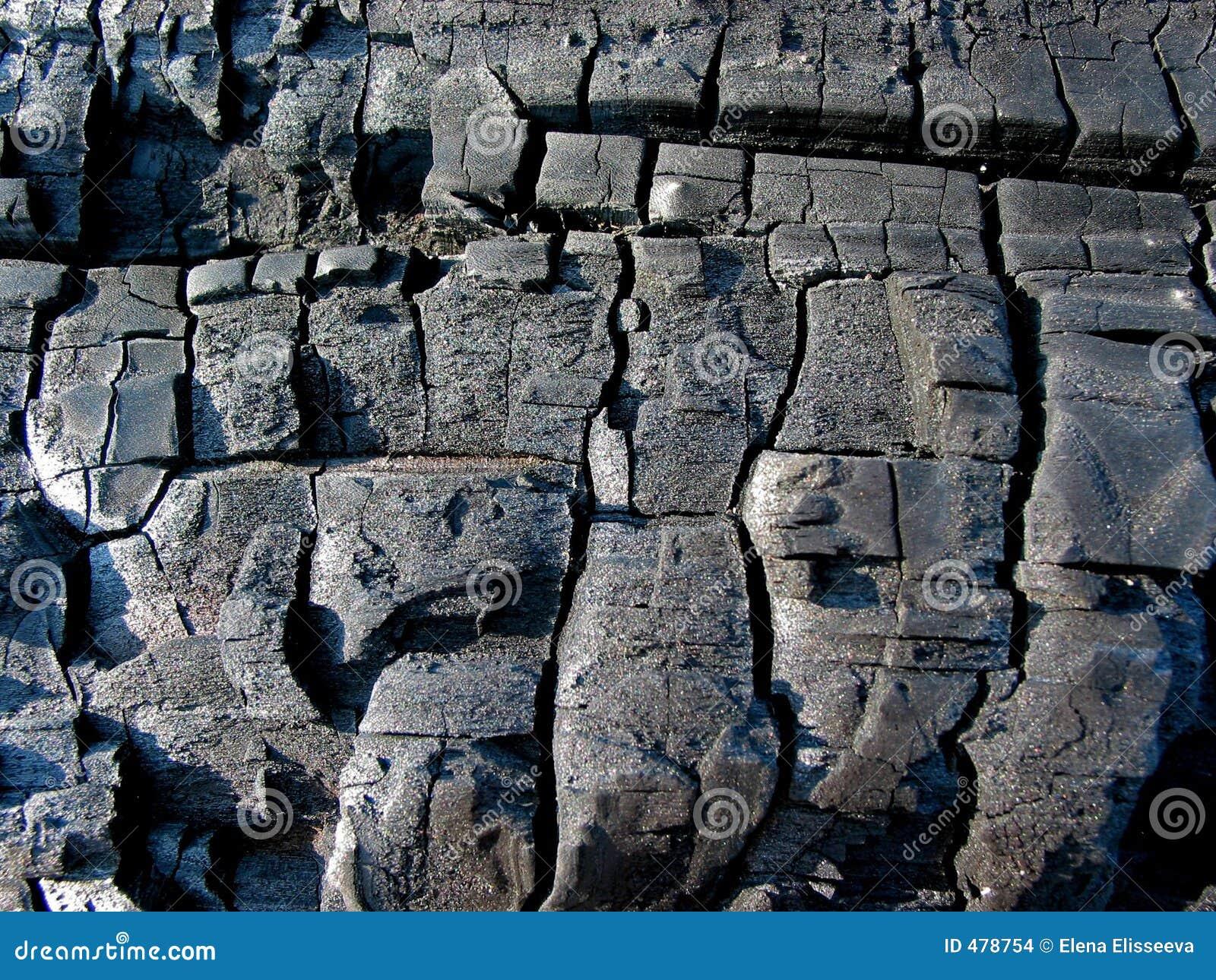 Texture en bois carbonisée
