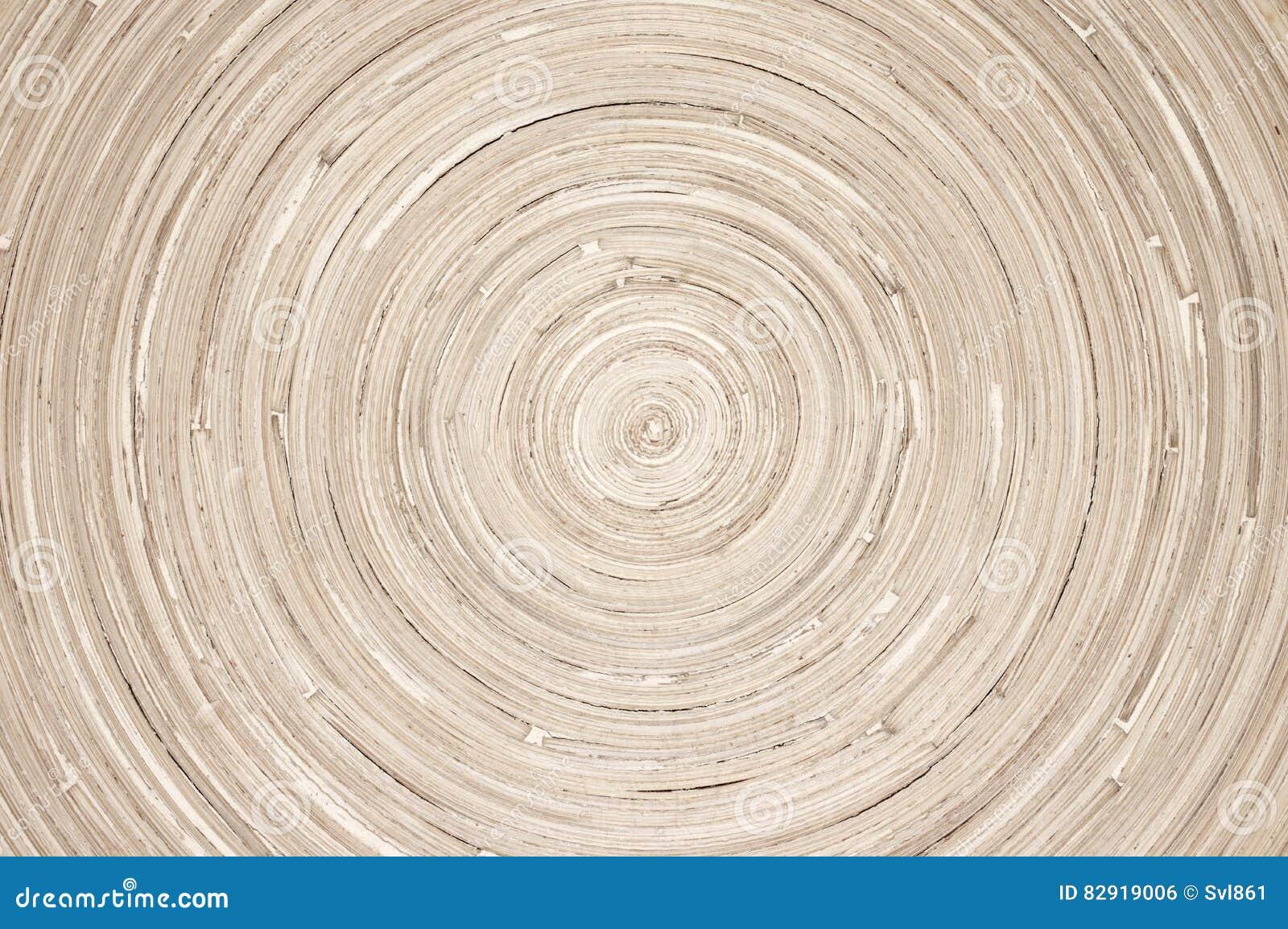 Texture en bois circulaire