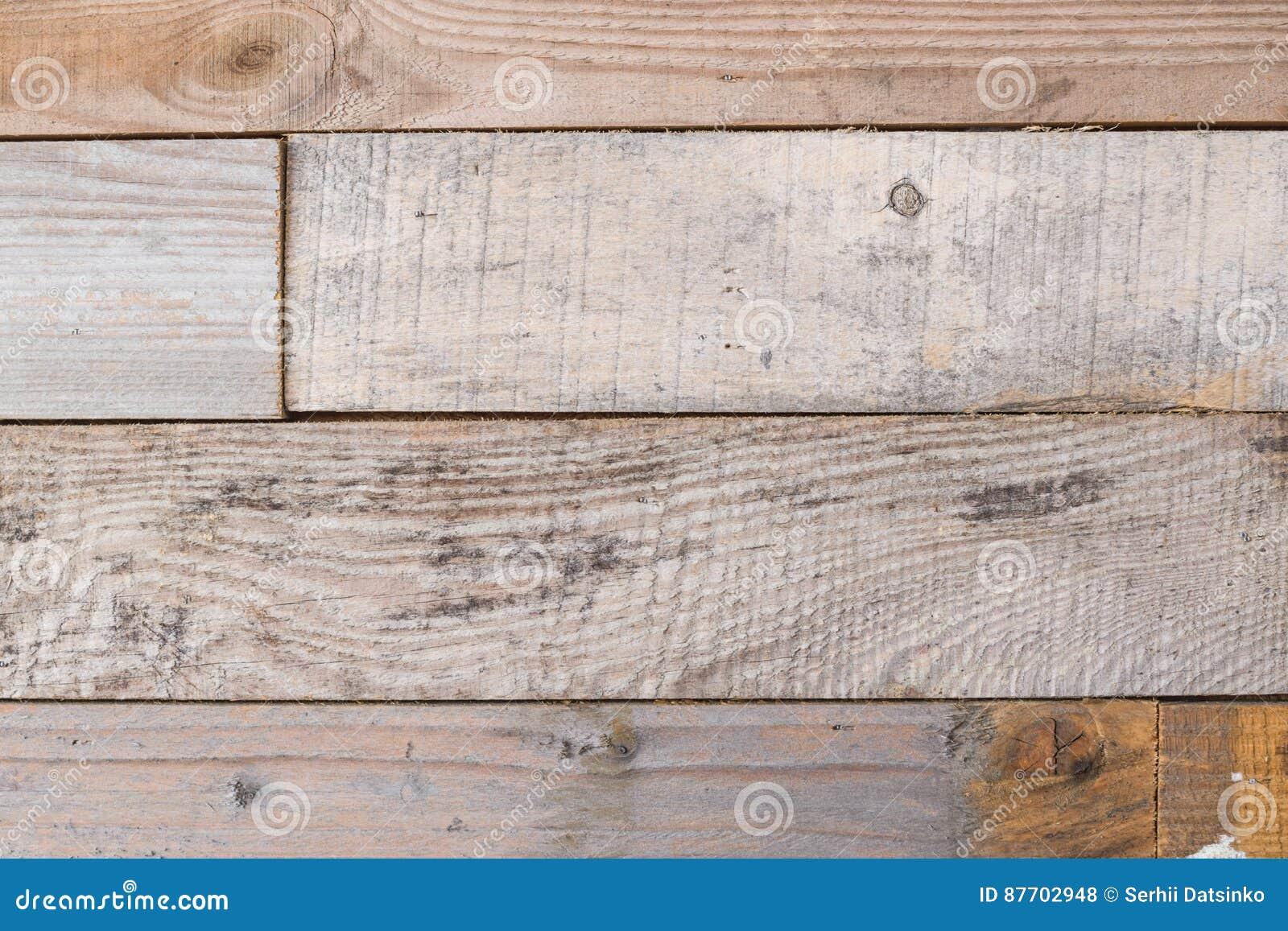 Texture en bois détaillée Vieux mur en bois superficiel par les agents avec le fond rouillé de clous