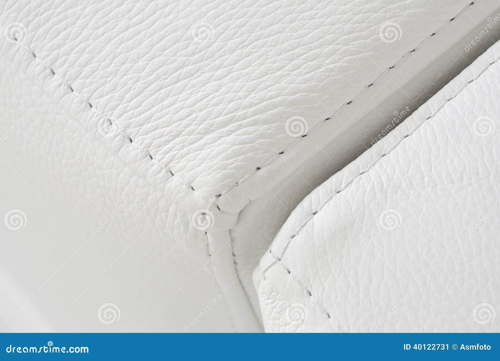 texture en cuir lumineuse blanche de tapisserie d 39 ameublement photo stock image 40122731. Black Bedroom Furniture Sets. Home Design Ideas